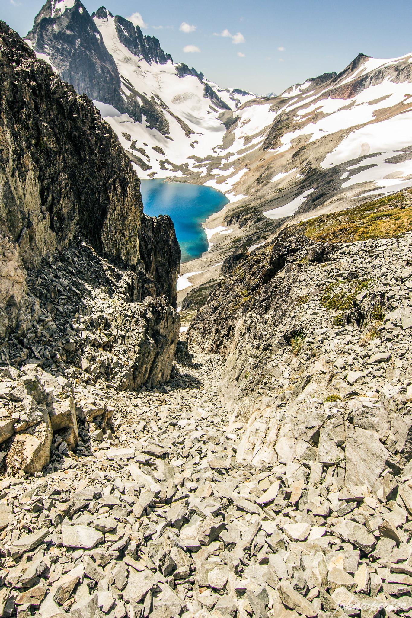Class 3 gully below Mount Rahm