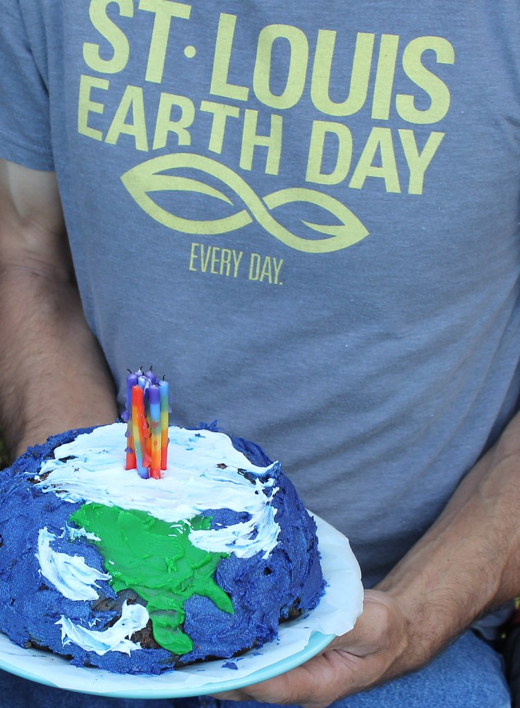 Fabulous Now This Is A Half Earth Half Birthday Cake St Louis Earth Day Personalised Birthday Cards Paralily Jamesorg