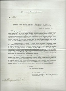 Leeds and West Riding Junction Railway  Notice to Treat 1844 | by ian.dinmore