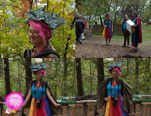 Weeping Angel Hat - my attire for the Time Travel-Period dress-Dr Who wedding 10-11-14 | by Pink Light Images