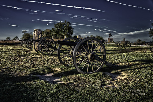 Lt. Alonzo H. Cushing's (CMH) 4th US Artillery Gettysburg, PA Sunset HDR