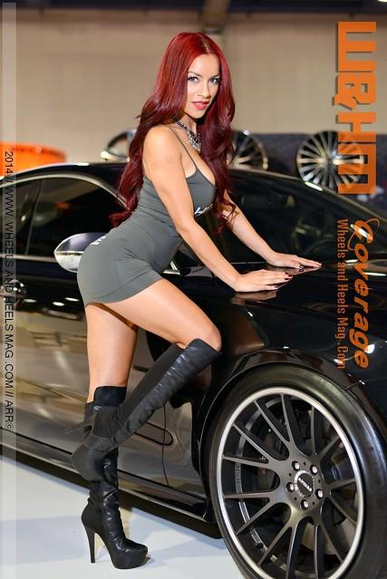 Alyhed Morales The Diamond Dozen Girl - MKW Wheels SEMA Models 2014 by Wheels and Heels Magazine (143)