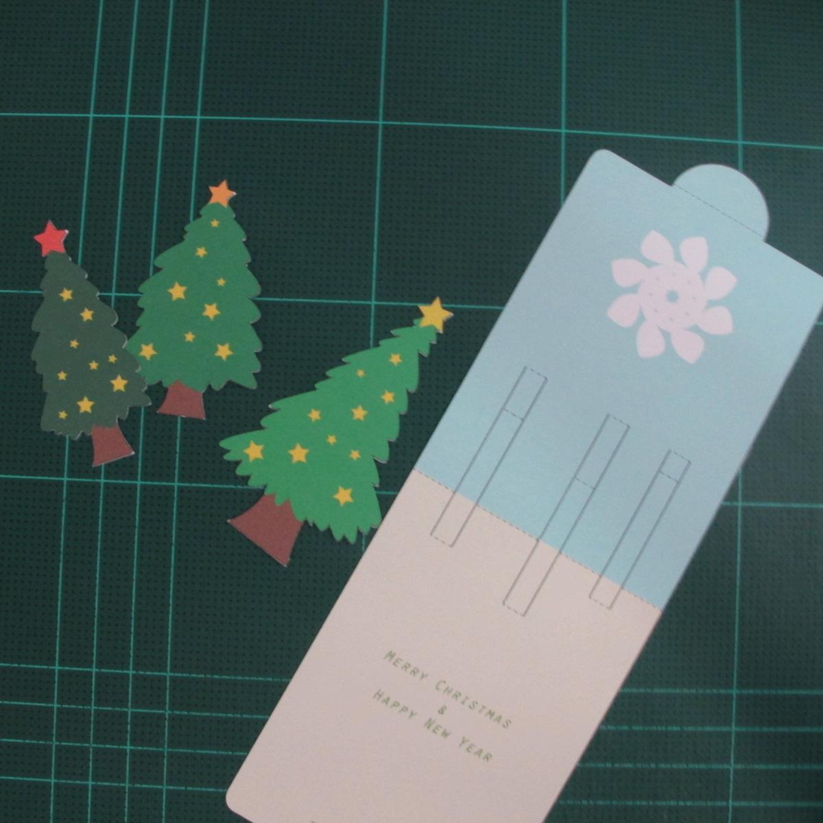 การทำการ์ดอวยพรลายต้นคริสต์มาสแบบป็อปอัป (Card Making Christmas Trees Pop-Up Card Template) 002