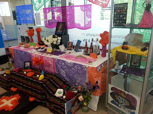Dia de Muertos display at Upper Riccarton Library