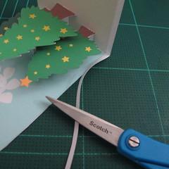 การทำการ์ดอวยพรลายต้นคริสต์มาสแบบป็อปอัป (Card Making Christmas Trees Pop-Up Card Template) 013