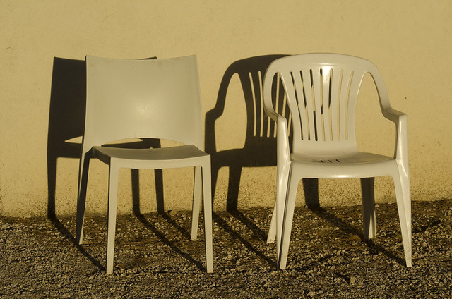 Shadows of chairs