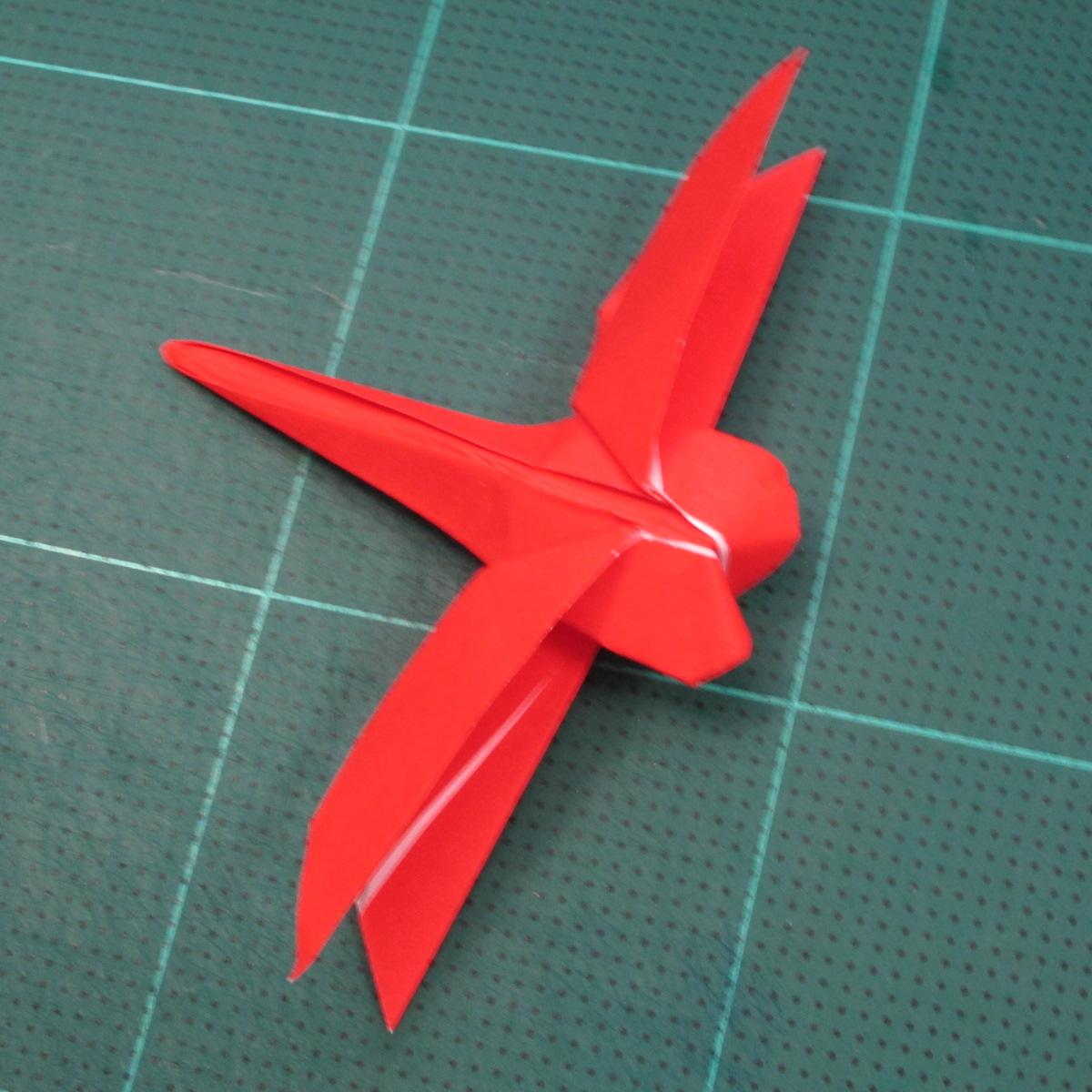 วิธีพับกระดาษเป็นรูปแมลงปอ (Origami Dragonfly) 023