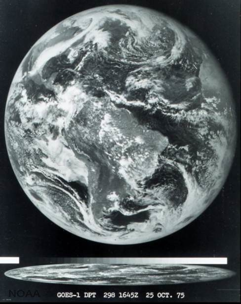 First GOES-1 Image (Oct. 25, 1975)