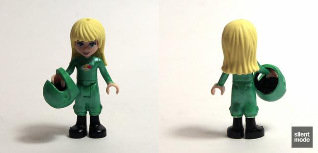 Stephanie as Yve (Green Astronaut)