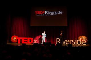 Mayor Rusty Bailey giving welcome to TEDxRiverside