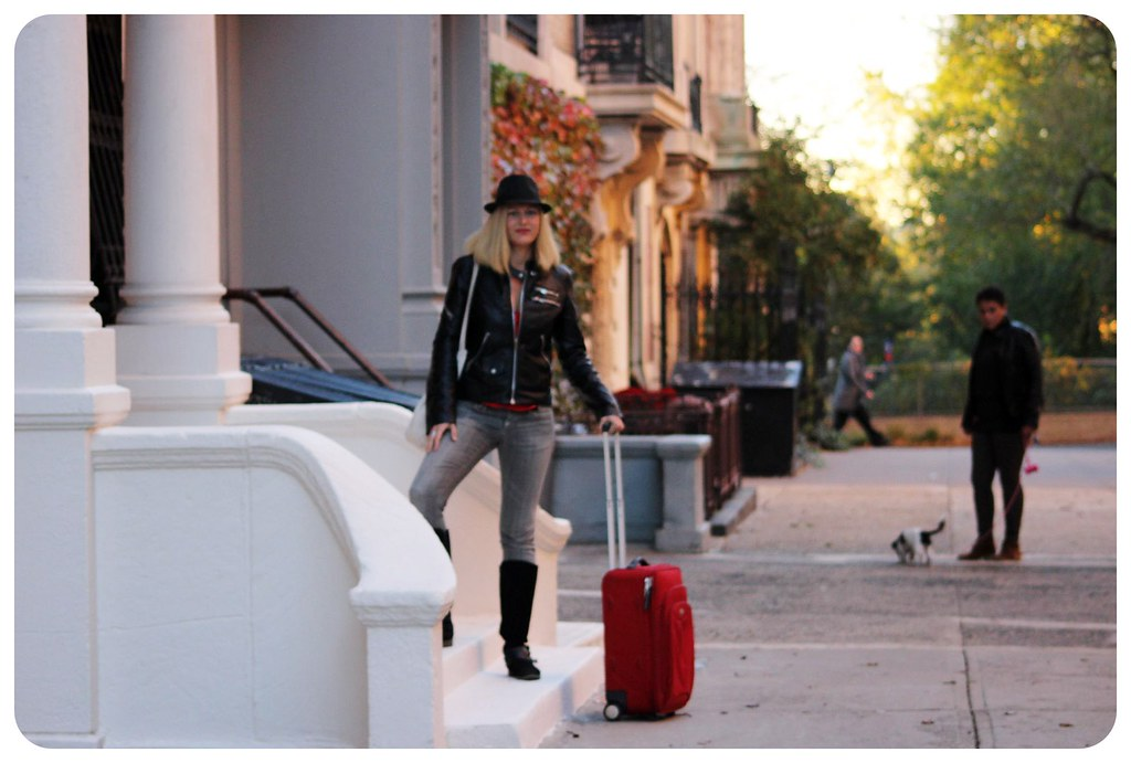 dani with suitcase