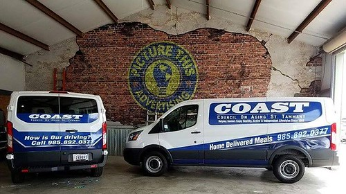 New fleet design for COAST , look out for these pretty boys servicing St Tammany. #vanwrap #neworleanswraps #fleetwraps