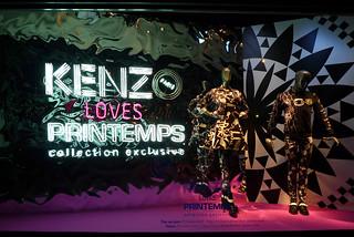 Vitrines Kenzo loves Printemps - Paris, septembre 2014 | by JournalDesVitrines.com