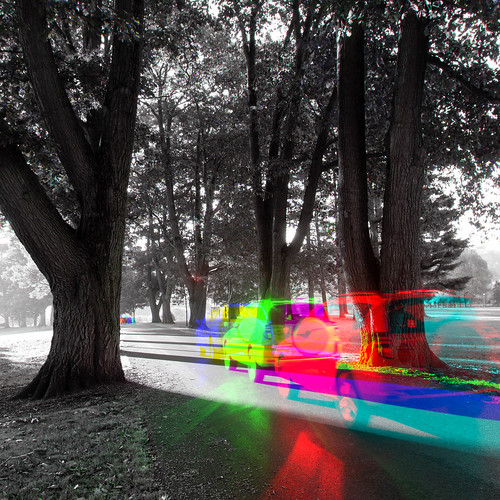 oakdrive oct2014 thiopheneguy originalworks harrisshuttereffect harris shutter colour colors colours rainbow color surreal thsfeset harrisshutter movement blur dynamism motion olympusxz1 xz1 traffic automobiles utata:project=vibrant utataweekendproject composite