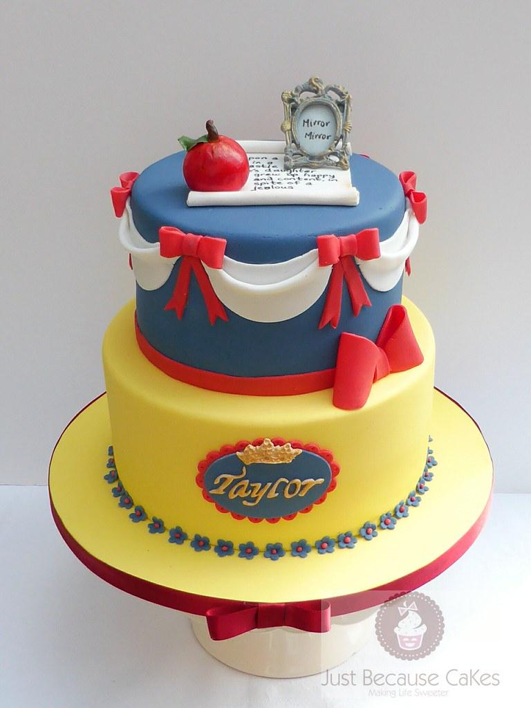 Wondrous Snow White Birthday Cake Snow White Cake With Story Scroll Flickr Funny Birthday Cards Online Alyptdamsfinfo