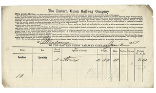 Eastern Union Railway Waybill 1851   by ian.dinmore