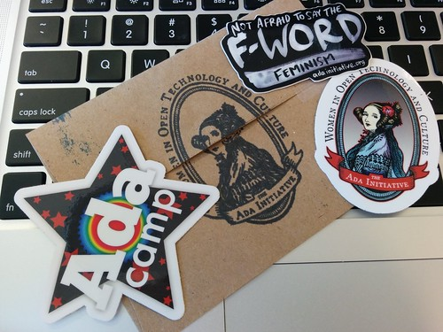 New stickers for my laptop from The Ada Initiative