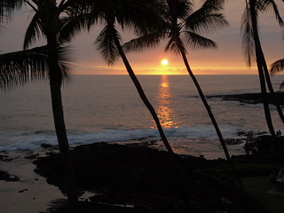 Sunset Kona Coast Big Island Hawaii   by Jim Morefield