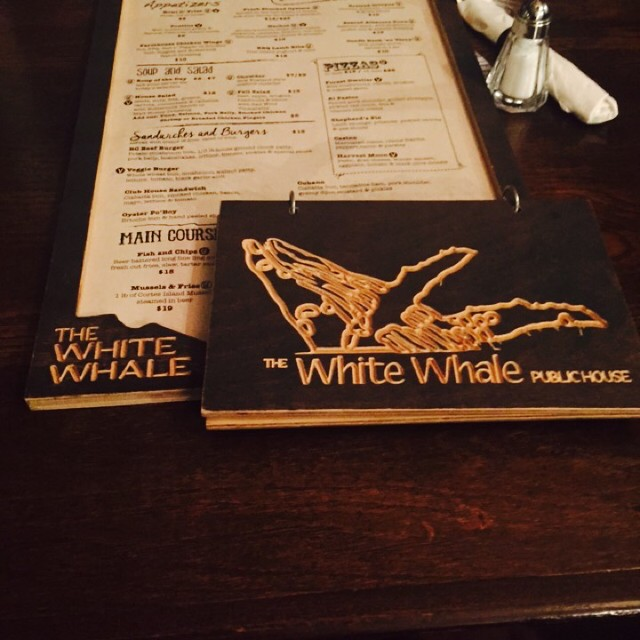 The menus at The White Whale in Courtenay