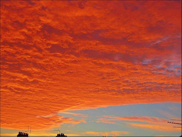 Flaming Red Sky.