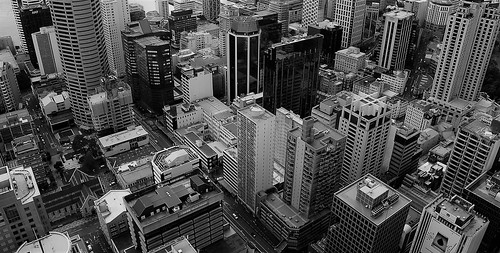 auckland newzealand panorama view overview skytower buildings bw blackandwhite blackwhite future city town reality nuovazelanda aotearoa novazelândia grey great fantastic dizziness vertical verticality geometry vertigo