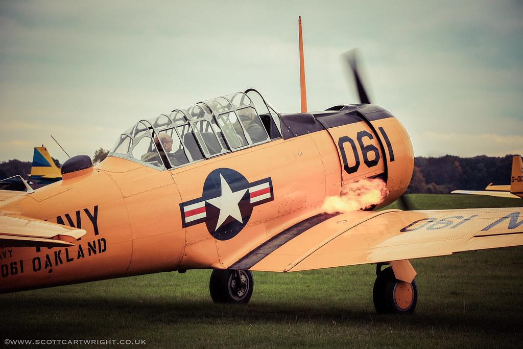 T-6 Harvard Spitting Flames