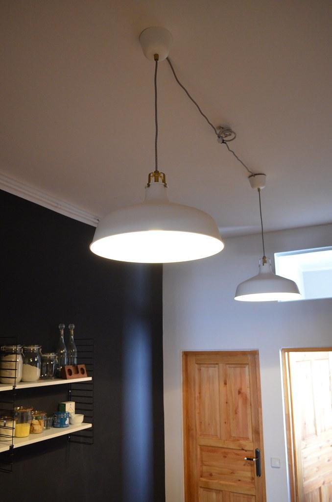 Berlin Apartment Kitchen Ranarp Ikea White Pendant Lights Flickr