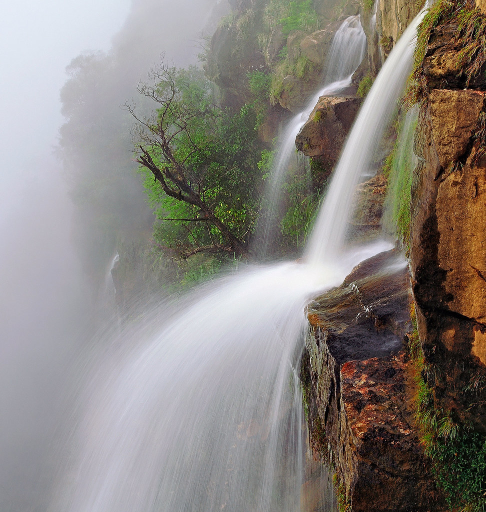 Image result for Nohsngithiang falls