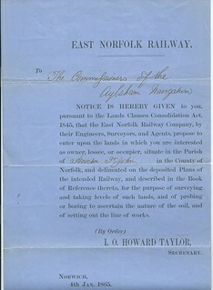 East Norfolk Railway Notice to Treat 1865 | by ian.dinmore