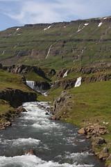 Waterfalls in Vestdalsa river
