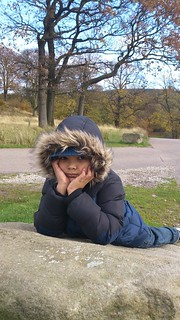Liam takes time out at Lyme Park | by Steve_Mc
