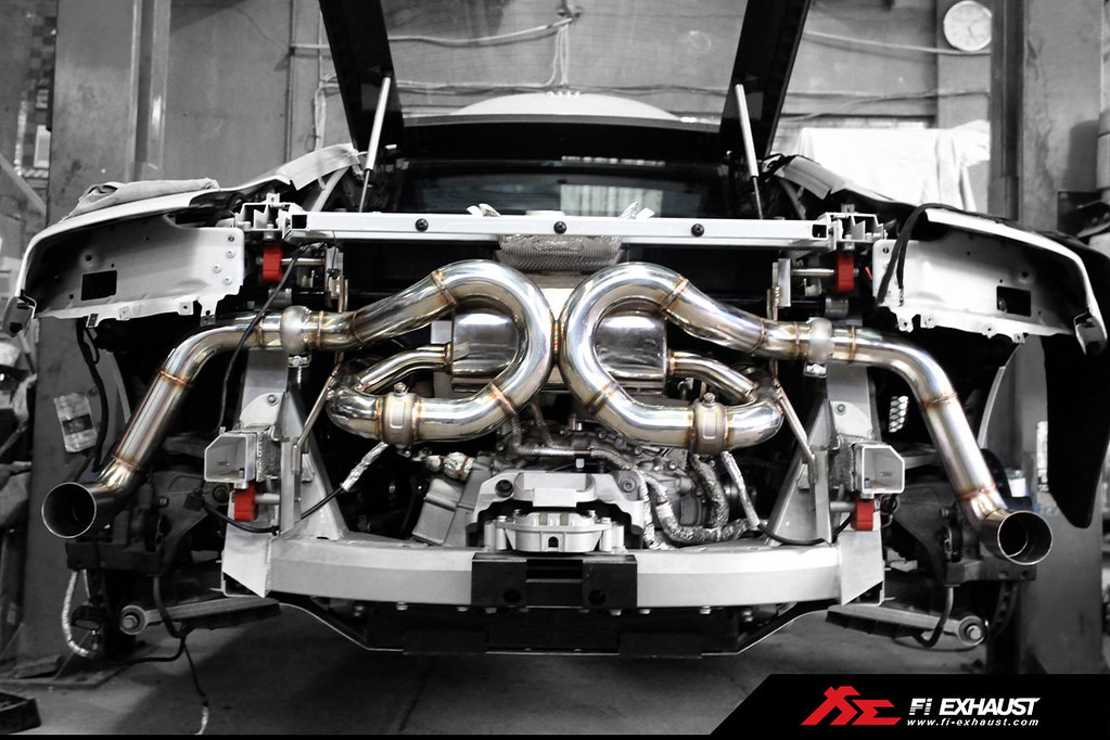 Audi R8 V10 Plus Fitted With Fi Exhaust Iron Mans Car A Flickr