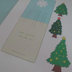 การทำการ์ดอวยพรลายต้นคริสต์มาสแบบป็อปอัป (Card Making Christmas Trees Pop-Up Card Template) 001