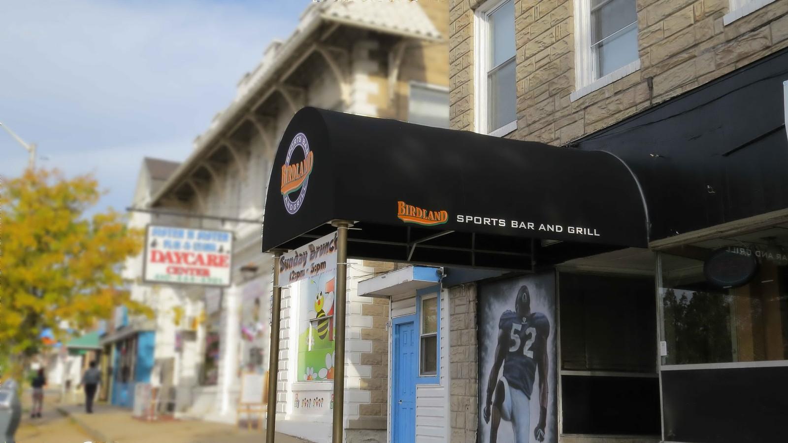 Birdland Sportsbar Awning-Hoffman Awning Baltimore