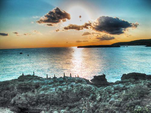 sunset sea sky clouds island tramonto nuvole mare stones cielo menorca isola minorca balearic roccie baleari esinuhe69