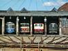 bl-Rundhaus 491 001-4, 6530, 120 003-9, E18 08  Bahnpark Augsburg