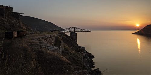 cycladesislands cyclades 2016 abandoned serifos spring islandhopping southaegean greece loadingbridge bridge 21 nightshot milos egeo gr