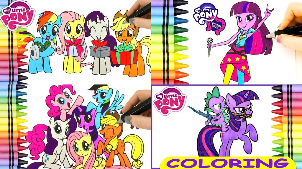 How To Color My Little Pony Coloring Book Videos For Kids … Flickr