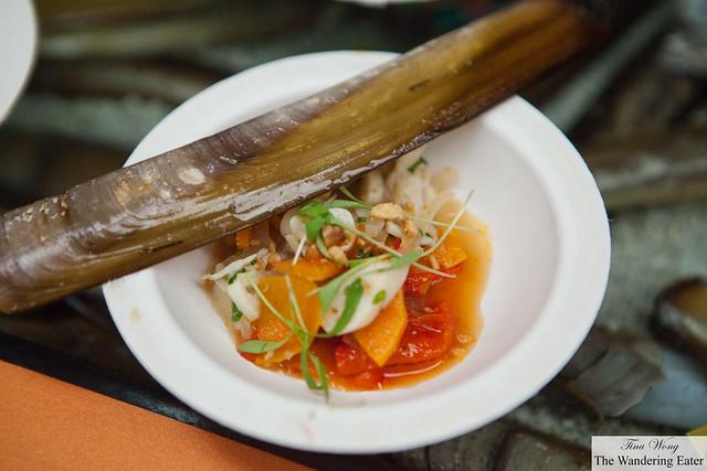 Razor clam escabeche from Tessa