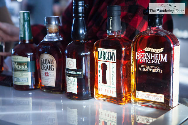 Many bourbons and whiskies to choose to drink