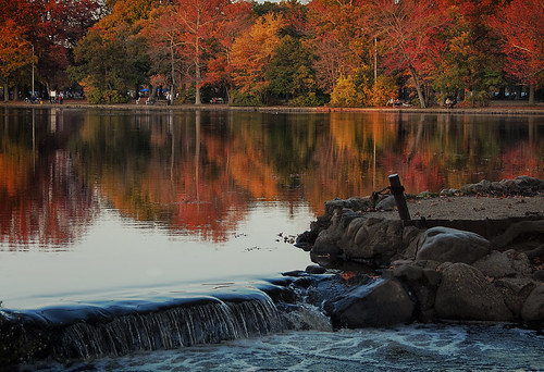 wowography wowographycom babylonny newyork autumn fall 2014 leaves belmontlakestatepark waterfall reflections longisland nassau fallfoliage picturesque photoshopcc alienskin exposure6 nikon d90 18200mm trees park people pond 1465535 tomreese photography 500px