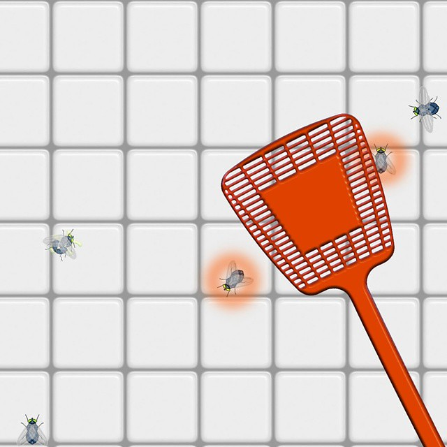 Swat some flies in: FLY SWAT! A free game at homeworldarts
