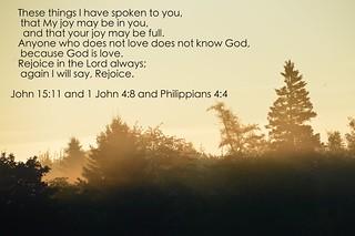 John 15:11, 1 John 4:8 and Philippians 4:4 | Sapphire Dream
