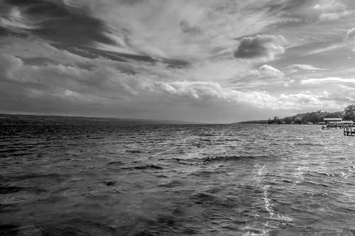 lake monochrome blackwhite hdr senecalake