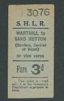 Sand Hutton Light Railway ticket undated | by ian.dinmore