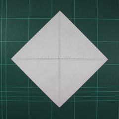 วิธีพับกระดาษเป็นรูปแมลงปอ (Origami Dragonfly) 001