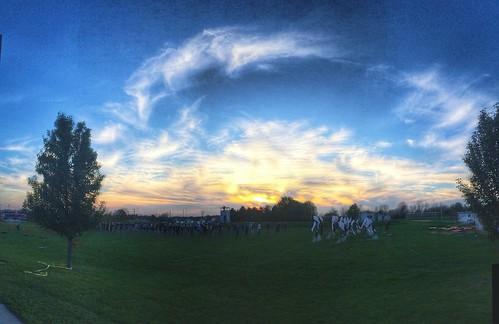 sunset ohio sky clouds dusk band columbusohio pickerington asseenincolumbus