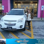 Congratulations to Allison Johnson on your #Chevrolet #Equinox purchase from Romie Lee at Crossroads Chevrolet Cadillac! #NewCar