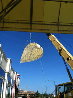 High Lift Crane Awning