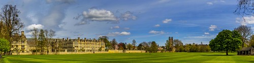 oxford colleges england great britain panorama cityscape merton college clouds field